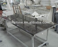 Tan brown granite table top with good polishing
