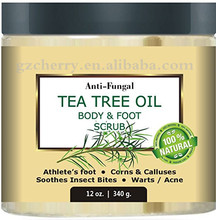 12 oz .Natural Anti Fungal Tea Tree Oil Body And Foot Scrub