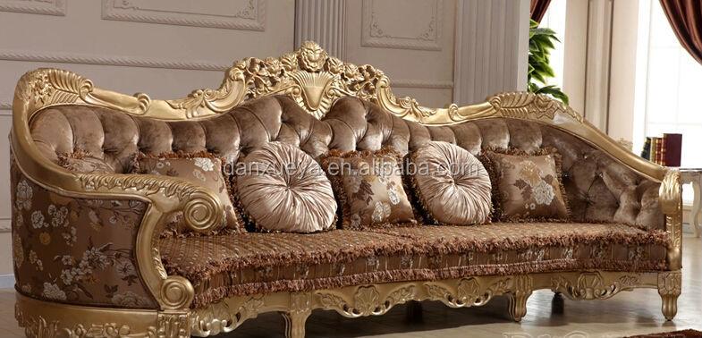 Arabic Majlis Gold Living Room Sofa Luxury Royal Living