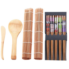 Amazon Neue Design 4 teile/satz Bambus <span class=keywords><strong>Sushi</strong></span>-herstellung Kit Familie Büro Party Hausgemachte <span class=keywords><strong>Sushi</strong></span> Gadget Für Lebensmittel Liebhaber