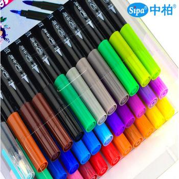 2018 Sipa 36 Colors Drawing Pens Dual Tip Painting Coloring Brush ...