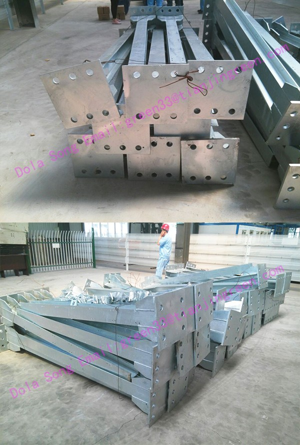 Wf-ds045 Estructura De Acero Galvanizado Poste De Acero Para ...