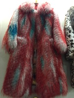 factory price luxury design lady's raccoon fur coat