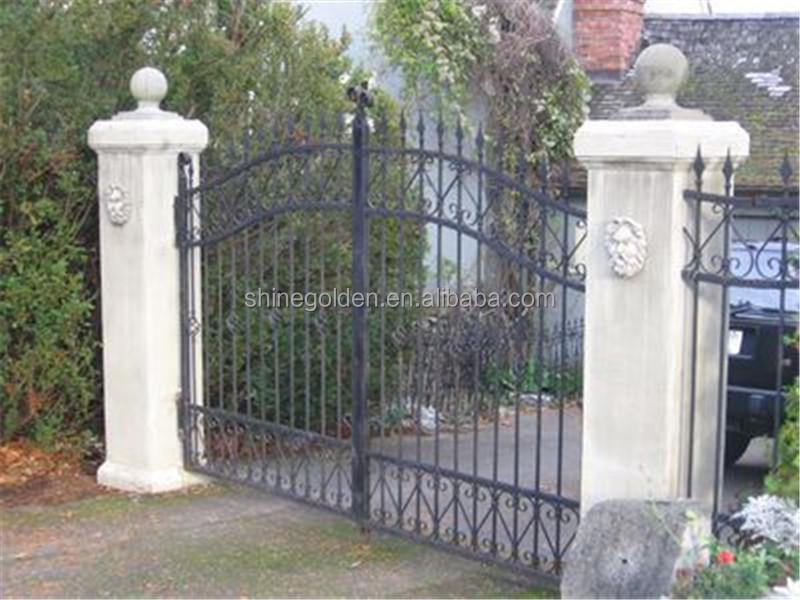 En Fer Forgé Porte Pliante En Aluminium Automatique D\'entrée De Porte  Portail De Clôture De Jardin - Buy Porte Et Clôtures Modernes,Portes ...