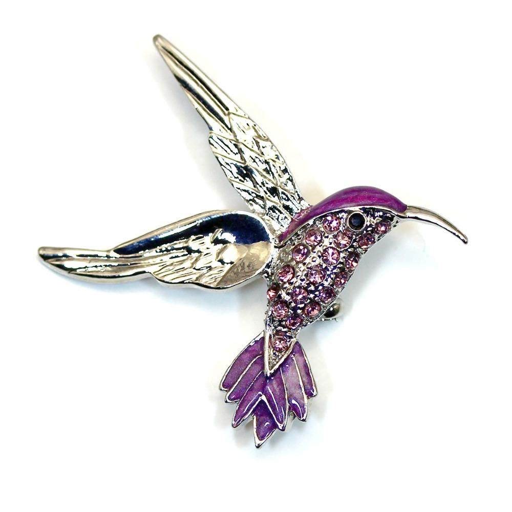 Purple Crystal Rhinestone Baseball Cap Bat Sports Pin Brooch Fashion Jewelry