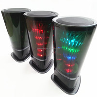 2017 new style popular wireless portable mini colorful LED lamp bluetooth speaker for home theater