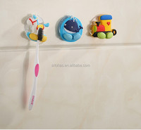 Animal silicone traceless wall hanging toothbrush holder for kids