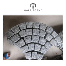 Exterior plaza floor China granite curved paving stone for sale
