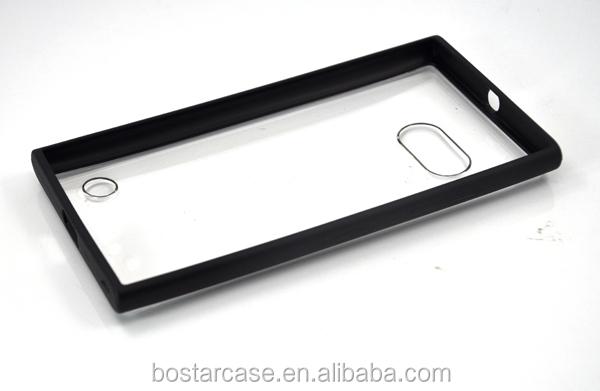 Clear Pc+tpu Bumper Phone Case For Nokia Lumia 735