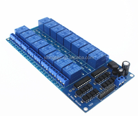 DC 5V 12V 16 Channel Relay Module Interface Board PIC ARM DSP PLC With Optocoupler LM2576 Power 16Channel