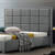 Bedroom Furniture king size solid wood hotel PU bed with frame