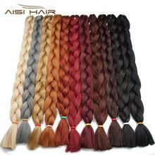 AISI HAIR cheap wholesale 41inch 165g x-pression jumbo hair braid synthetic ultra braid hair for black women