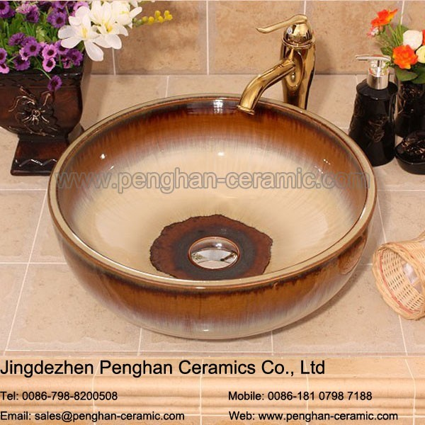 Jingdezhen factory direct antique bathroom ceramic home and garden basin