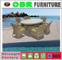 2017 wholesale super nice outdoor rattan furniture 1 table and 6 chairs