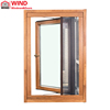 Aluminum Clad Solid Wood Outward Opening Casement Window for Villas