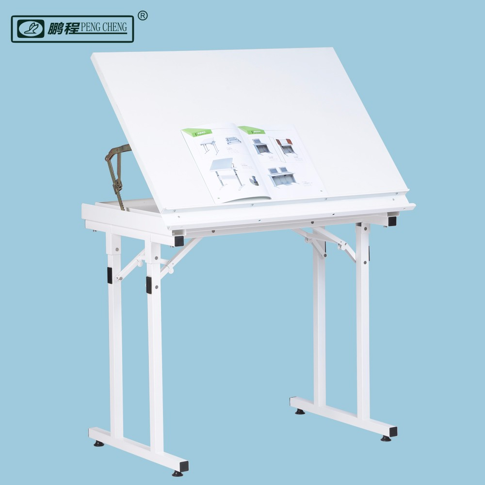 Cheap Wood Steel School Furniture Folding Adjustable Drafting Drawing Tables