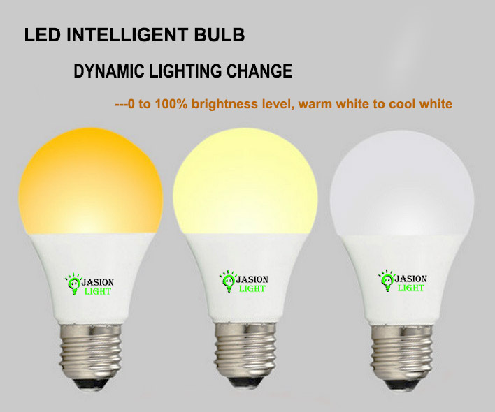 Free Dimming Switch On/off Intelligent/smart Led Light Bulb E27 On ...