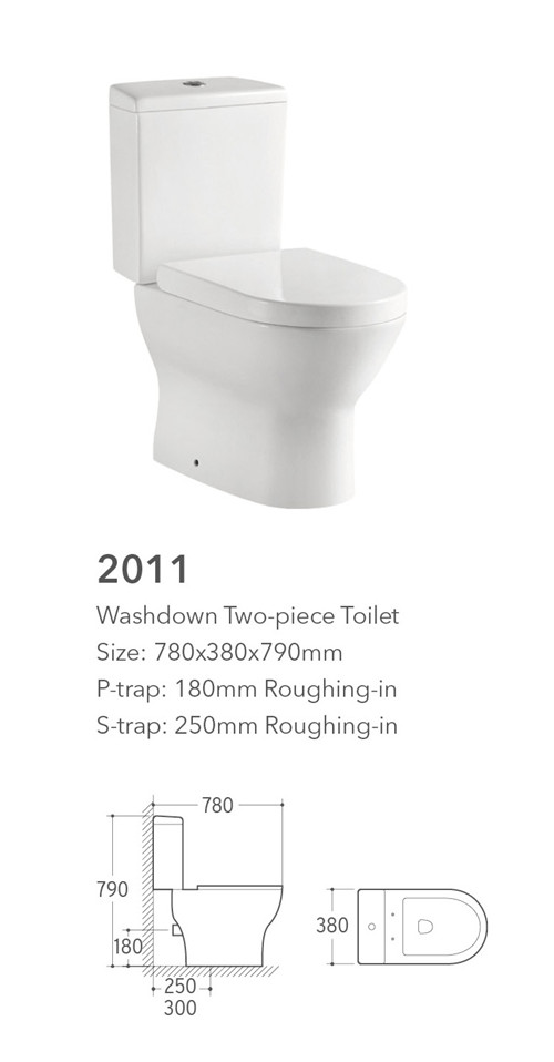 Good quality bathroom sanitary ware decorated toilet suite