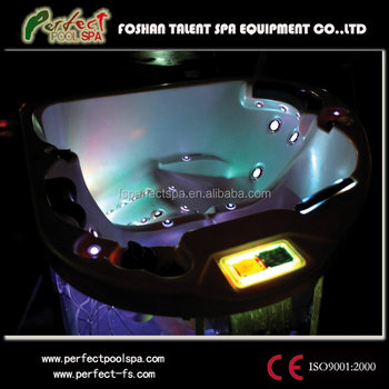 Indoor hot tub 2 person  Triangle Hot Tub Spa For 3 Persons Hydro Spa Hot Tub 2 Person ...