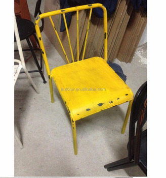 retro metal patio chair metal industrial vintage chair factory chair
