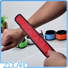 Outdoor Running Armband Nylon Led Slap Bracelet