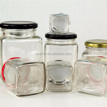New Square Glass Jars For Packing Honey Jam Small Glass Jar Empty