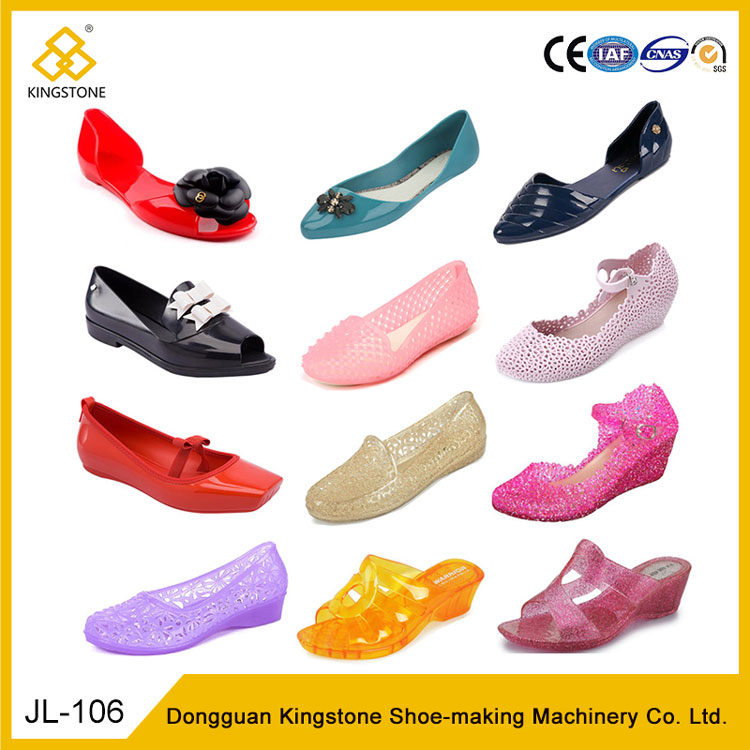2018 New Fashion PVC Women Ladies Flat Sandals Shoes Injection Machine