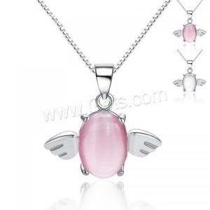 wholesale 925 silver jewely Cats Eye pendants 925 Sterling Silver with wing Shape best type