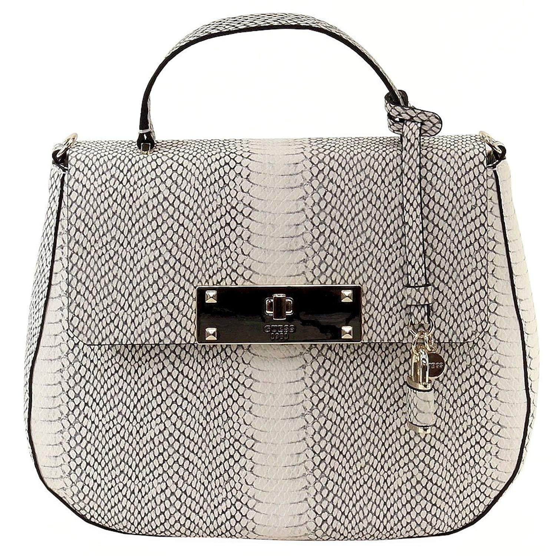 Get Quotations · Guess Women s Kyra Flap-Over Top Handle Saddle Satchel  Handbag 0464acc757f1a