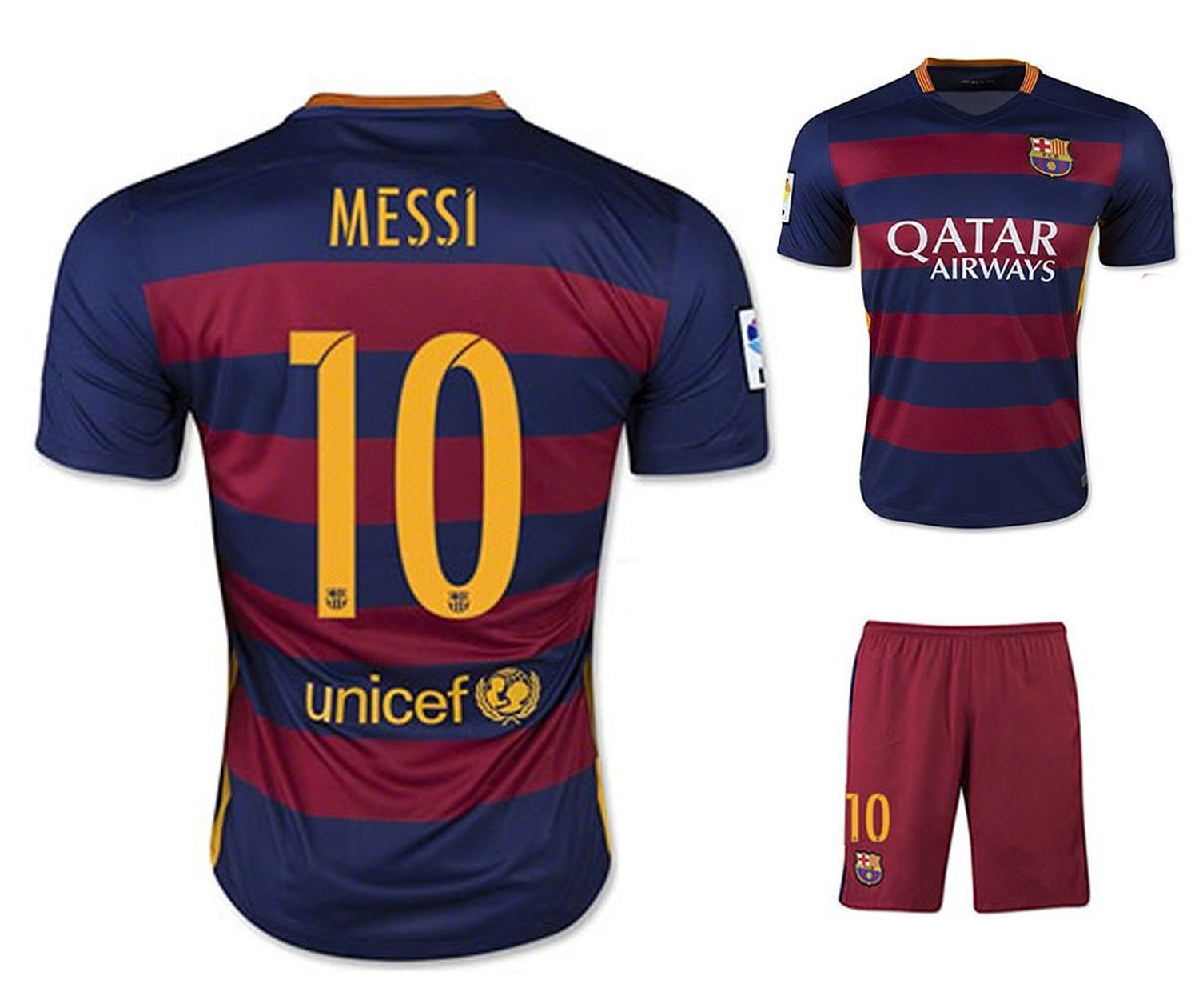 Barcelona Home Messi  10 Fc Adult Soccer Jersey 2015 2016 with Free Short a 25821c901