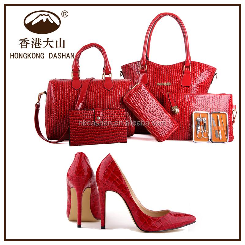 Y71 Las Fashion Shoes Set 6 For Women In Handbags Match Bags Handbag Whole