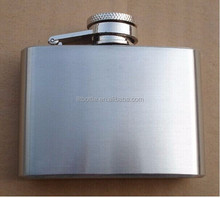 Square Wine Pot Camping Flagon Hip Flask Stainless Steel customized glass lined hip flask