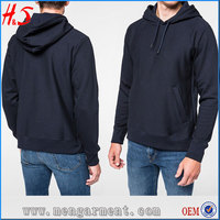 China Home Made Product Mens Navy Hoodies Tracksuit Plain No Design Hoodie From Clothing Factory