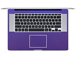 "BingoBuy Customized Full or Half Wrist Palm Rest Palmrest Guard Cover Skin Protector for 15.4"" Apple Macbook Pro with retina display model No. A1398 (Violet Sparkle Matte Full Palmrest Skin)"