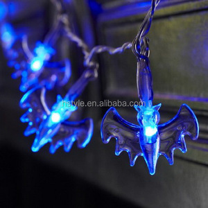 Battery Operated Halloween Bat Fairy Lights with 20 Blue LEDs HNL149