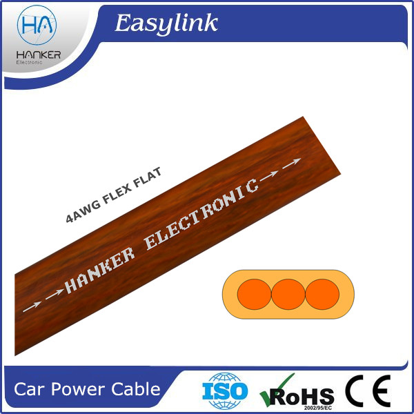 3 cores car power cable 4AWG FLEX