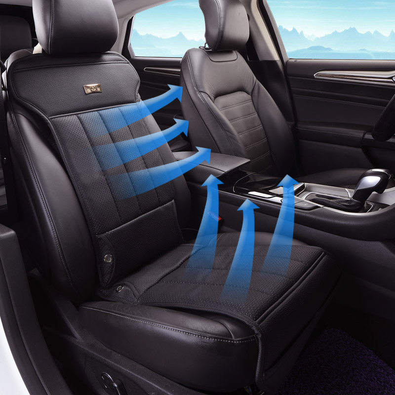 12v Car Seat Cushion Summer Breathable Leather Car Seat