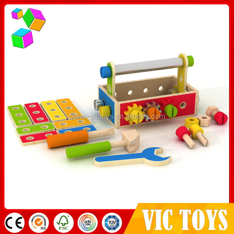 wholesale 2016 new design kids wooden tool toy set