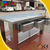 Kitchen Working Table/Used Industrial Work Table/Stainless Steel Work Table  with Drawer