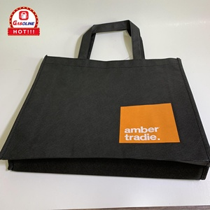 Custom Silk Screen Printed Logo Promotional Non Woven tote Bag