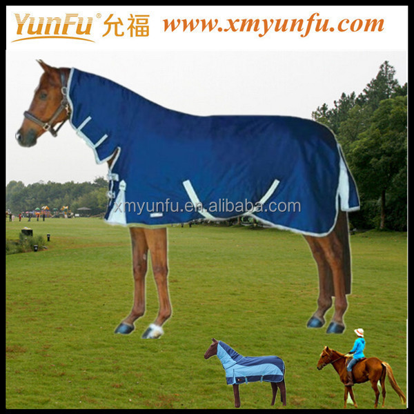 Quality Chequered Horse Rug with Undetachable neck cover