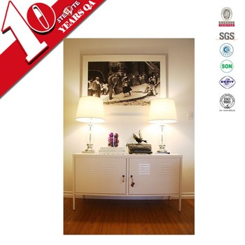 High Glossy White Living Room Furniture Partition Cabinet