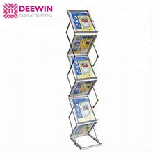6 Strati porta depliant A4 Portatile fold-up magazine rack display stand