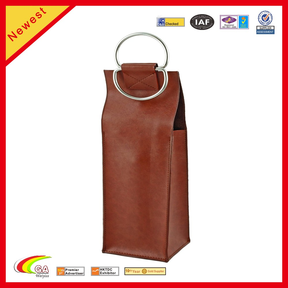 Modern Faux Leather Wine Purse Bag