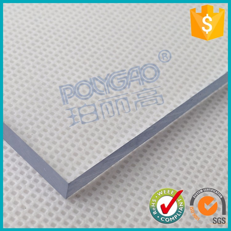 4x8 transparent PC solid lexan plastic polycarbonate roofing panels