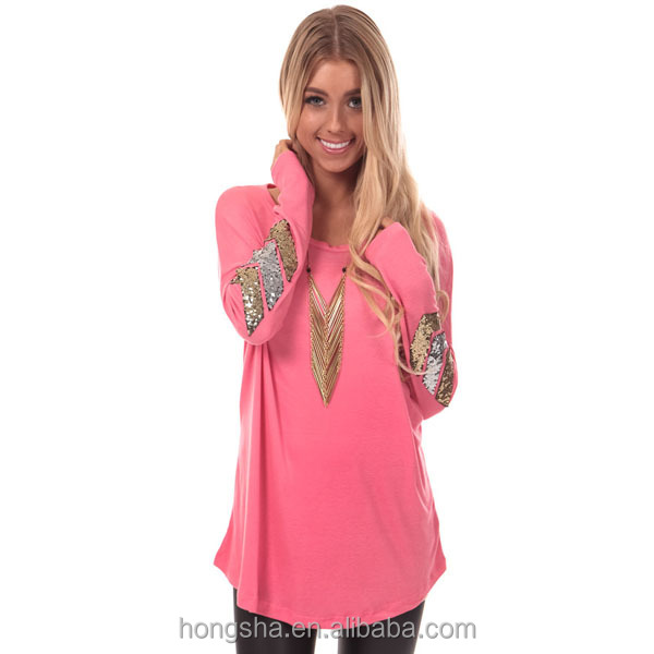 Latest Long Tops Designs Girls Full Sleeve Tops Knit Top With ...