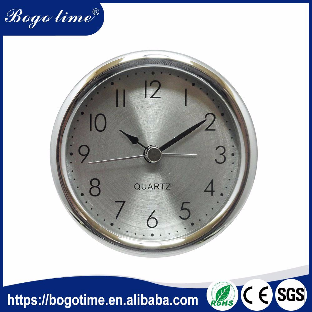 Wholesale 82mm silver ODM quartz clock inserts uk