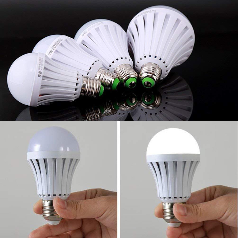 CTKcom 7W LED Light Bulbs(2 Pack)- Emergency Lamps Household Lighting Bulbs Saving Energy Intelligent Lamps Rechargable Electricity White Color 6500K More 4 Hours Power Outage Lighting E26/E27 Base