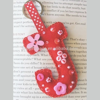 New hot sale da moda handmade tecido alibaba China inicial J design chaveiro  artesanato de presente 9ef15fea7e