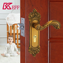 Fine copper cylinder zinc alloy mortise handle set best door lock brand outdoor or indoor